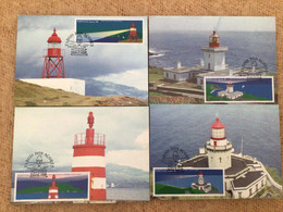Carte Maximum Phare, Lighthouse, Farois Dos Açores Portugal X 4 - Maximumkarten (MC)
