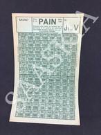 #VP27 - France PAIN Ticket Rationnement Sans Cachet  MAI 1941 J1 V Titre C 72 - Historical Documents