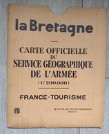 CARTE Officielle Du Service Géographie De L'armée - La Bretagne ( 1930 ) TBE - Carte Geographique