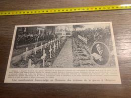 1929 PATI2 Inauguration Mémorial à Ottignies Bourgmestre Ducoux - Non Classés