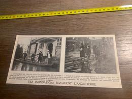 1929 PATI2 Inondations à Londres Passerelles Improvisées - Non Classés
