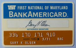 USA - Credit Card - Bank Americard - First National Bank Of Maryland - Exp 03/71 - Used - Carte Di Credito (scadenza Min. 10 Anni)