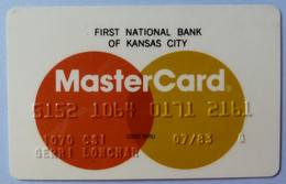 USA - Credit Card - MasterCard - First National Bank Of Kansas City - Exp 07/83 - Used - Carte Di Credito (scadenza Min. 10 Anni)