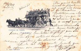 MADRID- CORRIDA De TOROS - ! A LA PLAZA ! - HAUSER Y MENET-MADRID -Ecrite DOS PRECURSEUR-TIMBREE Janvier 1902 - Madrid