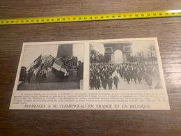 1929 PATI2 Hommage à M Clémenceau à Laeken Paris - Non Classés