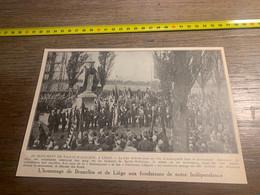 1929 PATI2 Au Monument De Sainte-Walburge à Liège La Brabançonne Valeureux Liégeois - Non Classés