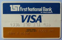 USA - Credit Card - VISA - 1st First National Bank Of Maryland - Exp 08/79 - Used - Carte Di Credito (scadenza Min. 10 Anni)