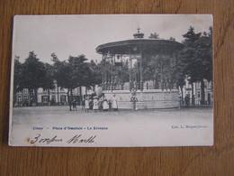 CINEY Place D'Omaluis Le Kiosque Animée Province Namur Belgique Carte Postale Postcard - Ciney