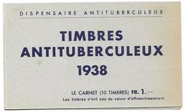 Dispensaire De Geneve Timbres Antituberculeux Carnet Complet Nsc Mnh ** - Blocchi