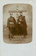 CARTE PHOTO SOLDATS ALLEMANDS 1906 CASQUE A POINTE - Other