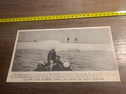 1929 PATI2 Fin D Un Iceberg Dans Les Eaux Du Gulf Stream - Non Classés