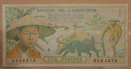INDOCHINE FRANÇAISE - 1 Piastre Polychrome ND (1942) - Indochine