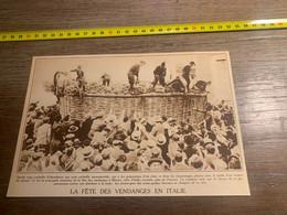 1929 PATI2 Fête Des Vendanges En Italie à Marino Corbeille Géante - Non Classés