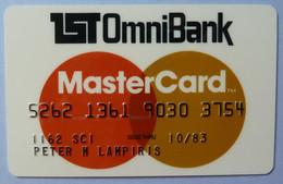 USA - Credit Card - MasterCard - 1st OmniBank - Exp 10/83 - Used - Carte Di Credito (scadenza Min. 10 Anni)