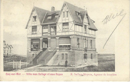 COQ-SUR-MER : Villa Mon Refuge Et Mon Repos - RARE VARIANTE - Cachet De La Poste 1909 - De Haan