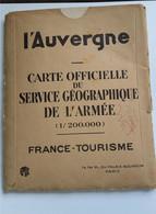 CARTE Officielle Du Service Géographie De L'armée - L'Auvergne ( 1929 ) - Carte Geographique