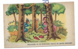 """Pause Pipi. Trois Dames Derrière Les Arbres, Parapluie, Sac à Main:"""" Le Printemps Chante"""" - Humor"""