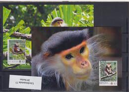 WWF Issue  Michel Cat.No.  St.Kitts Issued 2012 Monkey MC - Tarjetas – Máxima