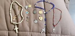 Religieux Lot Chapelets Médailles - Religion & Esotericism