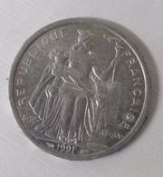 75/ Monnaie 2 Francs Alu Nouvelle Calédonie 1991-- 2,20 Gr - New Caledonia