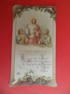 Image Pieuse 1908 Religion Catholique N° 2452 Ch. Mazé - 1ère Communion Paroisse St. Medard à CREIL Oise - Religion & Esotericism