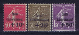 France Yv 266 - 268  MNH/** Sans Charniere. Postfrisch Caisse D'Amortissement 1930 - Ungebraucht