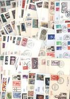 Lot De 100 Enveloppes 1er Premier Jour D'émission FDC First Day Cover Commémoratives France - Unclassified