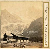 Rare Chamonix 1862 * Les Praz, Ancienne Ferme, Glacier Des Bois * Photo Stéréoscopique Braun - Photos Stéréoscopiques