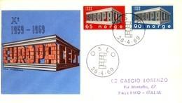 1969 - NORVEGIA - EUROPA - BUSTA FDC.+2 - FDC