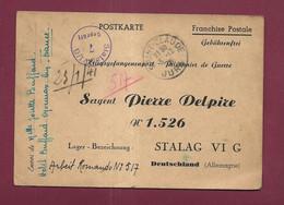 160521 - WW2 39 45 - Franchise Milititaire FM ST CLAUDE JURA STALAG VI G Prisonnier De Guerre  Kriegsgefangenenpost - WW II