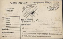 Guerre 14 CP Correspondance Militaire FM Franchise Drapeaux L'union Fait La Force CAD Trésor Et Postes SP 140 23 JAN 15 - WW I