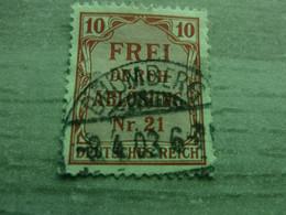 Frei Durch Ablösung - Nr 21 - Deutches Reich - Val 10 - Rouge - Oblitéré - Année 1903 - - Officials
