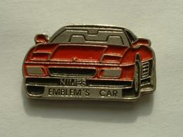 Pin's FERRARI - EMBLEM'S CAR - NIMES - Ferrari