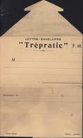 Lettre Enveloppe En FM Franchise Militaire Trépratic Prototype D'initiative Locale Privée Modèle Déposé Puech Andule - Military Service Stampless