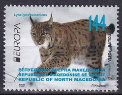 Macedonia Mazedonien 2020  MNH ** Ma 883 EUROPA 2021 Mazedonien– ENDANGERED NATIONAL WILDLIFE  Stamp M - 2020