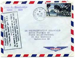 Lettre , Premier Sevice Aérien: Tahiti Bora Paris: 1958 - 1849-1876: Classic Period