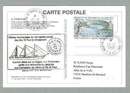 1998 TAAF / FSAT LE CANCALAIS MARTIN DE VIVIES SAINT PAUL ET AMSTERDAM - Covers & Documents