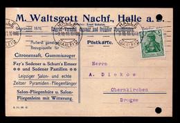 DR Postkarte HALLE (SAALE) - Neuenkirchen - 9.10.15 - Mi.85 Citronensaft, Gummisauger, Pastillen, Fliegenfänger - Storia Postale