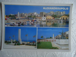 GREECE POSTCARDS    ALEXANDROUPOLIS PORT ΑΛΕΞΑΝΔΡΟΥΠΟΛΗ - Grecia