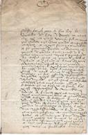 -27/11/1626- Philippe, ROI De Castilleet D'Aragon ... Demande  à Messire Florent De Noyelle, Seigneurde Torsy,le Moulin - Historical Documents