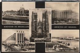 1031 - SOUVENIR DE BRUXELLES . MELSBROECK L'AEROGARE . GARE CENTRALE .LE HEYSEL. DEPART POUR LE CONGO . SCAN RECTO VERSO - Ohne Zuordnung