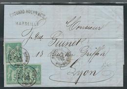 FRANCE 1878 N° 75  X 3  Obl. S/Lettre - 1876-1898 Sage (Type II)