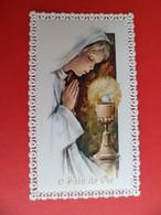 2 Image Pieuse Religion Catholique Canivet Dentelle - 1975 Eglise Sottevast Manche - Ed. FB Anges 21 Et 24 - Religion & Esotericism