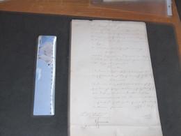 LIMBOURG 1851 - COMPTES ECOLE PRIMAIRE SUPERIEURE DU GOUVERNEMENT - APPROBATION DES COMPTES - VOIR SCANS - Historical Documents