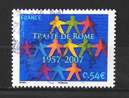 France 2007 - Cinquantenaire Du Traité De Rome N° 4030 - Cachet à Date - Usados