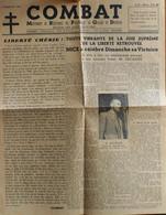 FR - 1944 - COMBAT - MOUVEMENT De RESISTANCE Des PRISONNIERS De GUERRE Et DEPORTES N° 5 Du 5.9.1944 - BE - Historical Documents