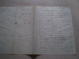Grande Lettre Manuscrite De Charles Sapey Député De L'Isère Pour Berret Octroi Chemin De Voiron. 1836. Vizille? - Historical Documents