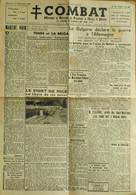 FR - 1944 - COMBAT - MOUVEMENT De RESISTANCE Des PRISONNIERS De GUERRE Et DEPORTES N° 10 Du 10.9.1944 - BE - Historical Documents