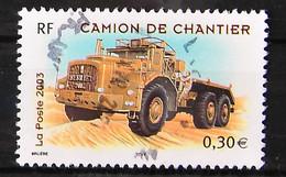 France 2003 - Véhicules Utilitaires N° 3615 - Camion De Chantier - Cachet à Date - Usados