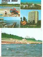 EFORIE PLAJA SI FALEZA PLAGE ANIMATION TIMBRE MULTIVUE LOT 2 CARTES 1967 - Roemenië